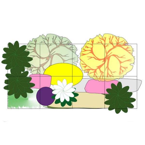 декоративная композиция план