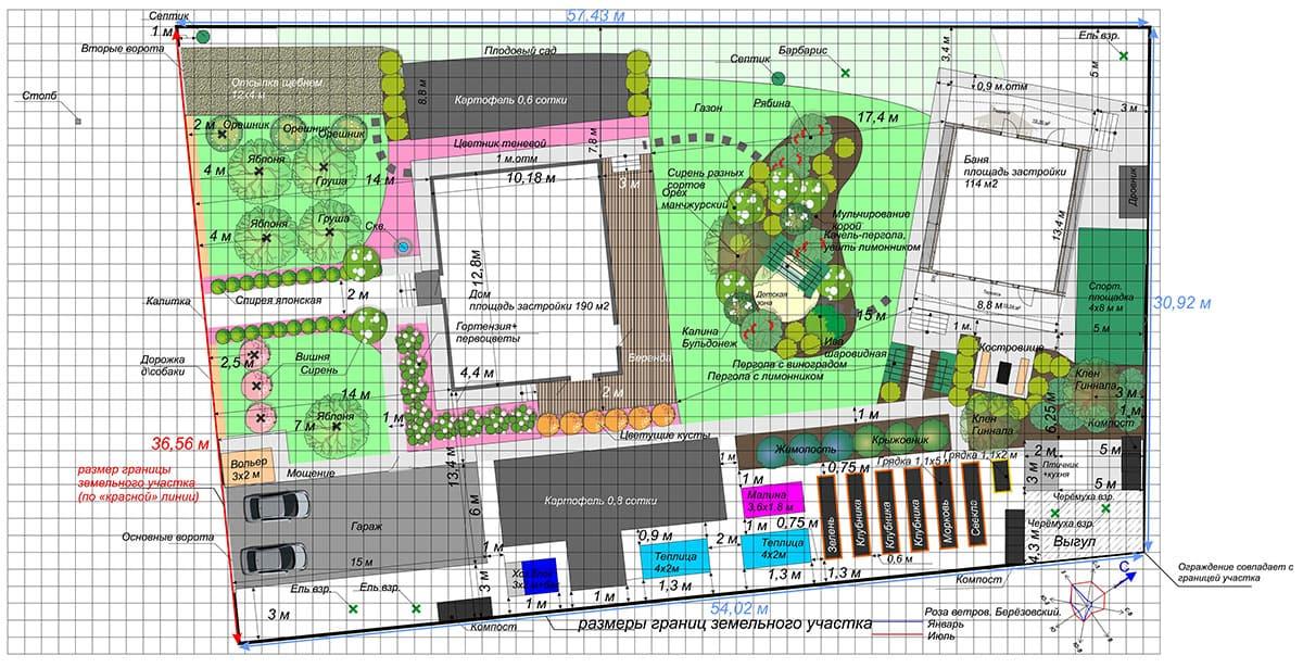 Создание схемы планировочной организации участка