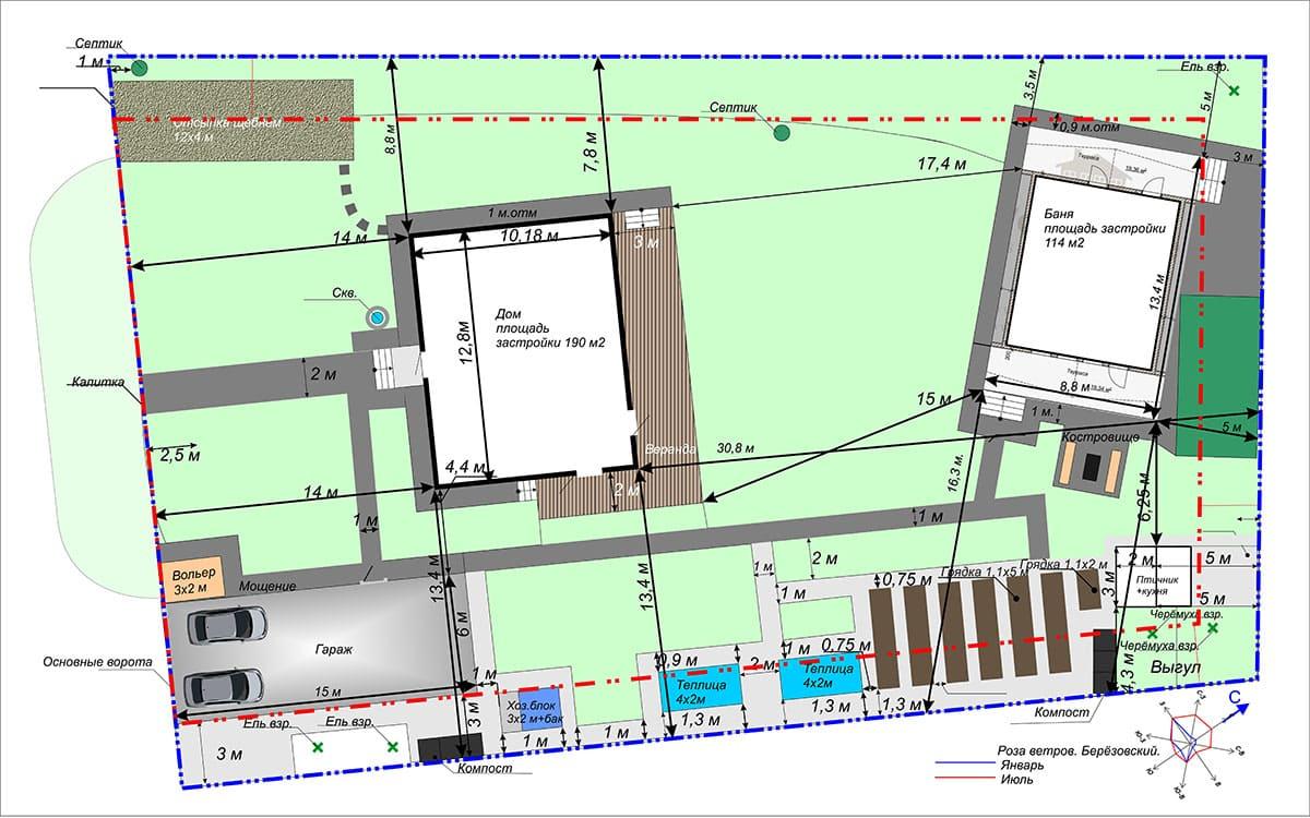 схема планировочной организации участка