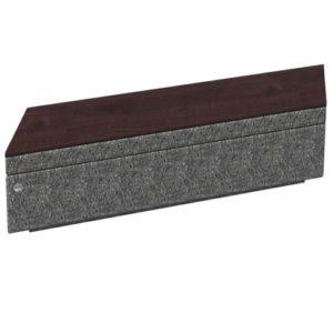 Угловая скамья на подпорной стенке параллелограмм